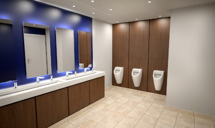 WC design 3D visual