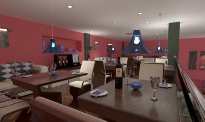 Restaurant 3D visual
